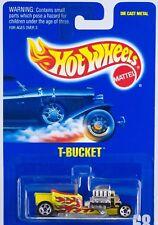 Hot Wheels No. 68 Yellow T-Bucket 5 Spoke New On Card 1995