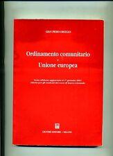 Gian Piero Orsello # ORDINAMENTO COMUNITARIO E UNIONE EUROPEA # Giuffrè 2003