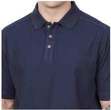 Size Small - Navy Blue Kirkland Signature Men's Pique Polo Shirt - Great Gift