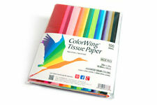 """Rainbow Color Tissue Paper 100 Sheets 20"""" x 26"""" for Gifts and Crafts"""