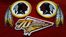A LOT 2002 70th ANNIVERSARY WASHINGTON REDSKINS PATCHES NEW