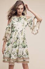 NEW Anthropologie Petra Ruffled Open-Shoulder Dress Size 2