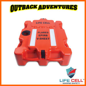 LIFE CELL THE CREWMAN BOAT SAFETY GEAR STORAGE BOX FLOTATION DEVICE 8 PEOPLE