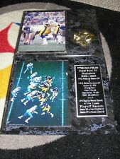 Pittsburgh Steelers TERRY BRADSHAW - 2 Super Bowl XIII plaques & photos