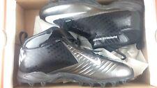 New listing Nike Men SZ 12 Super Bad Shark Pro Football Cleat Shoe 319168-009 Black/Metallic