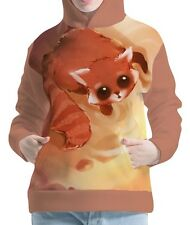 Curious Red Panda Womens Hoodie Hooded Pullover Sweatshirt wb114 aco43452