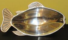~Vintage Heavy Aluminum Fish Serving Dish Bowl Tray Kitchen Collectible~