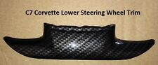 C7 Corvette Stingray Carbon Fiber Look Steering Wheel Trim