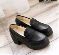 Sweet Lolita Womens Girl School Maid JK Uniform Shoes Cosplay Casual Shoes Pumps