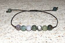 Dainty JASPER BRACELET shamballa inspired Adjustable Yoga Meditation Made in USA