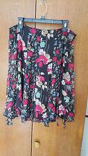 NWT  Ralph Lauren Floral Skirt  Sz. 10  NEW  Black $125