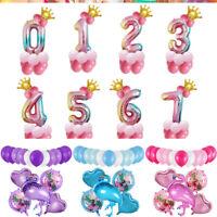 Lots Styles Unicorn Flamingo Fruit Aluminum Foil Balloon Wedding Party DIY Decor