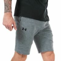 Men's Under Armour UA Unstoppable Double Knit Fitted Shorts in Grey