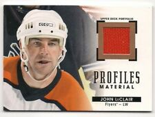 John LeClair 15-16 Upper Deck Portfolio Profiles Material Game Used Jersey