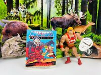 VTG 1984 Original THUNDER PUNCH HE-MAN Action Figure Complete Shield Comic MOTU