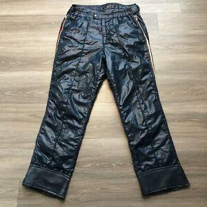 Obermeyer Mens Large Dark Blue Insulated Nylon Ski Snow Pants Side Zip
