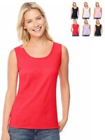 Hanes Womens Ribbed Tank Top Size S - 2XL -- O9341 -- Buy Two Get Third One Free