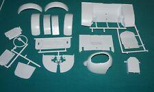 "Lindberg Custom ""T"" 1/8 White Body Parts Fenders Etc."