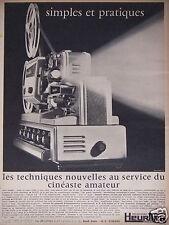 PUBLICITÉ 1967 PROJECTEURS HEURTIER SIMPLES ET PRATIQUES - ADVERTISING
