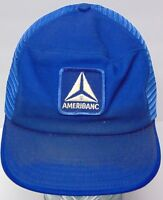 Vintage 1980s AMERIBANC ADVERTISING PATCH SNAPBACK TRUCKER HAT CAP MADE IN USA