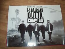 Straight outta Compton Uk Cinema Quad Poster d/s full size ORIGINAL NWA