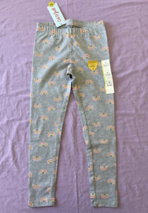 Cat & Jack Girls' Rainbow Leggings Heather Gray Size S(6/6X)
