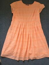 Cotton Lined Size 22 M&s New Dress Peach Broderie Anglais
