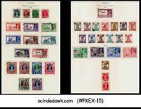 INDIA - 1937-46 KGVI STAMP SG#247-282 - 37V - USED