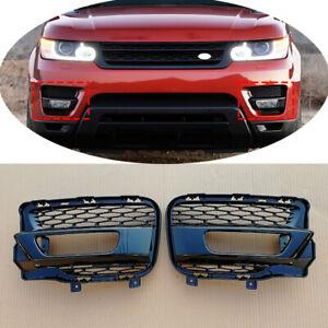 4pcs Black Front Fog Light Grille + Cover Trim For Range Rover Sport 2014 - 2017