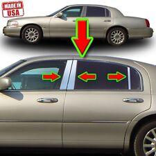 Chrome Pillar Trim for Lincoln Towncar 98-14 6pc Set Door Cover Mirrored Post