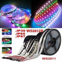 5M 12V WS2811 / 5V WS2812B IC RGB Strip Light Individual Addressable Dream Color