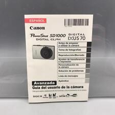 Canon Powershot SD1000 Digital Camera User Guide Instruction Manual Espanol