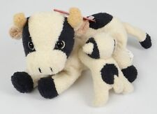 "RUSS BERRIE RB ~LUV PETS~CLOVER (Cow Mom & Nursing Calf)~8"" Beanbag Beanie Plush"