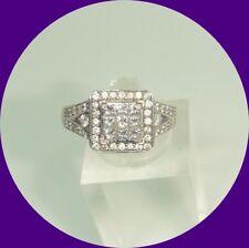 Gorgeous 14k White Gold Diamond Ring-- Size 5.5