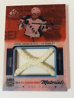 2015-16 SP GAME USED 2014 STADIUM  MATERIALS NET CORD /10 DOMINC MOORE RARE