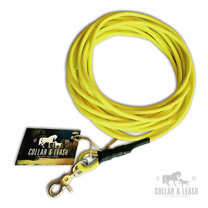 New Biothane Dog Lead Tracking Lead 8mm Round Various Colours