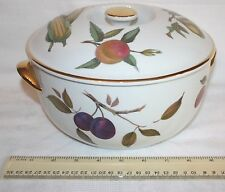 Royal Worcester Evesham Gold 4pt Round Casserole with Lid