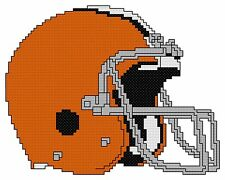 Counted Cross Stitch Pattern, Cleveland Browns Helmet - Free US Shipping