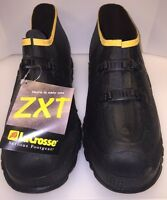 "LaCrosse La Crosse ZXT Buckle Deep Heel Overshoe 5"" Low Black Men 13 New 267090"