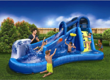 Outdoor Water Slide and Park Slip For Kids w/Curved Water Slide And Water Fall