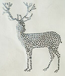 ST15 DIY Hotfix Hot Fix Rhinestone Clamop Motiv Iron-On Application Deer