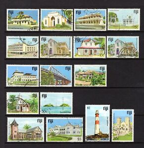 FIJI 1979 ARCHITECTURE GOOD TO FINE USED SHORT-PART SET OF 15 VALUES TO $5