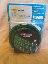 New 18' Flexible Green Rope Christmas Light Strand Celebrations Easy Connectors