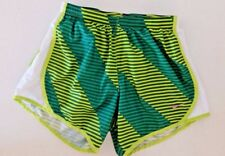 EUC Nike Tempo Style Athletic Running Shorts, Green Stripe, Inner Brief, Small