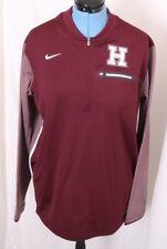 Harvard University Pilgrims Crimson Nike Dri-Fit Pullover 1/4 Zip Jacket Men's L