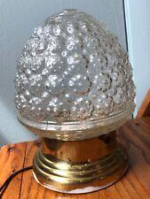 VINTAGE ART DECO ACORN BEE HIVE CEILING LIGHT FIXTURE GLASS GLOBE