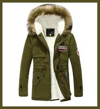 *  Winter Fall Men's Parka Warm Hooded Coat