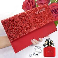Women  Flat Oversize Envelope Clutch Bag Faux Leather Evening Party Handbag