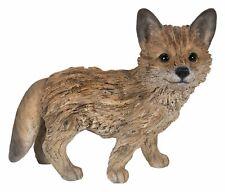 Realist Driftwood Look Fox Resin Figurine Statue