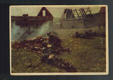 1943 Army Field Post Italy Propaganda postcard cover Battlefield Photo Scene